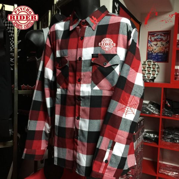 """PSC """"PREMIUM"""" EMBROIDERED SS  DEMON FLANNEL"""