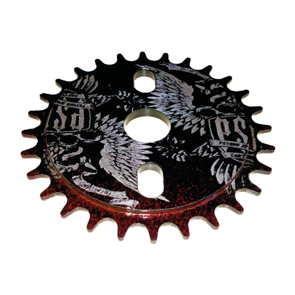 PSC BMX 28T BLACK / RED DISCO