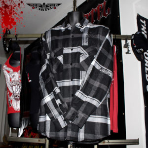 "PSC ""SS"" DEMON FLANNEL BLACK / WHITE"