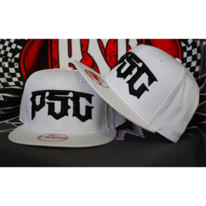 "PSC ""DESTROYER"" SNAP BACK HAT BLACK ON WHITE"