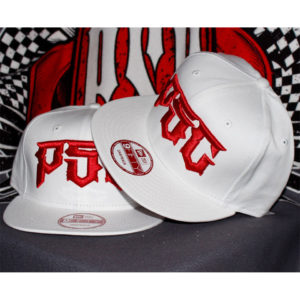 "PSC ""DESTROYER"" SNAP BACK HAT WHITE / RED"