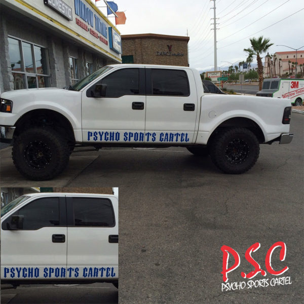 "PSYCHO SPORTS CARTEL ""ROCKER"" STICKERS"