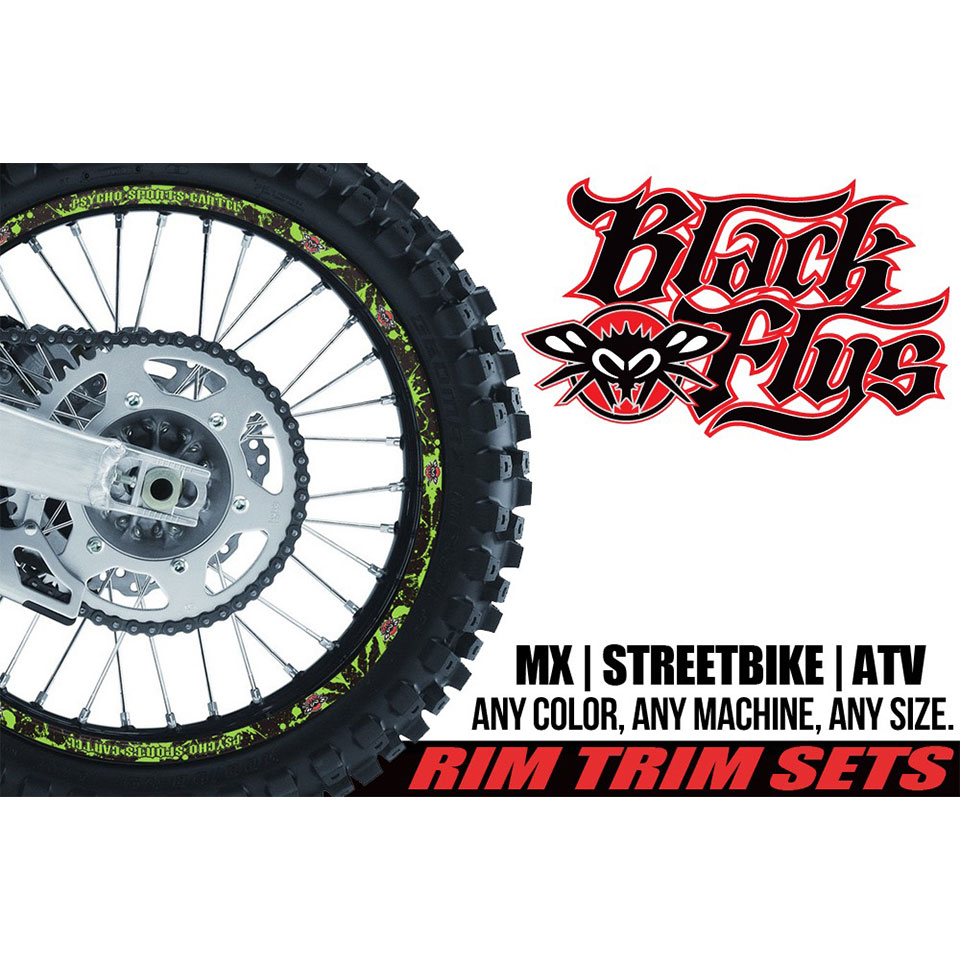 PSC / BLACK FLYS MX  WHEEL PROTECTORS / GRAPHICS