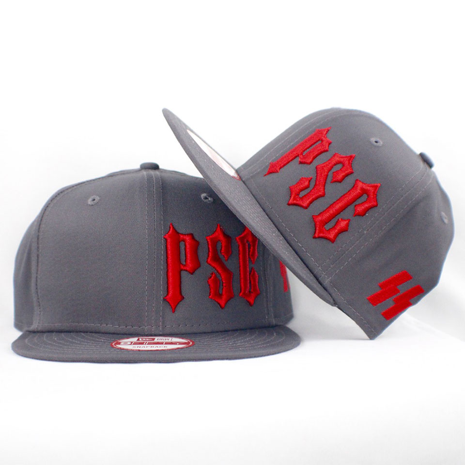 "PSC ""SS"" MEMBERS ONLY SNAP BACK GRY / RED"