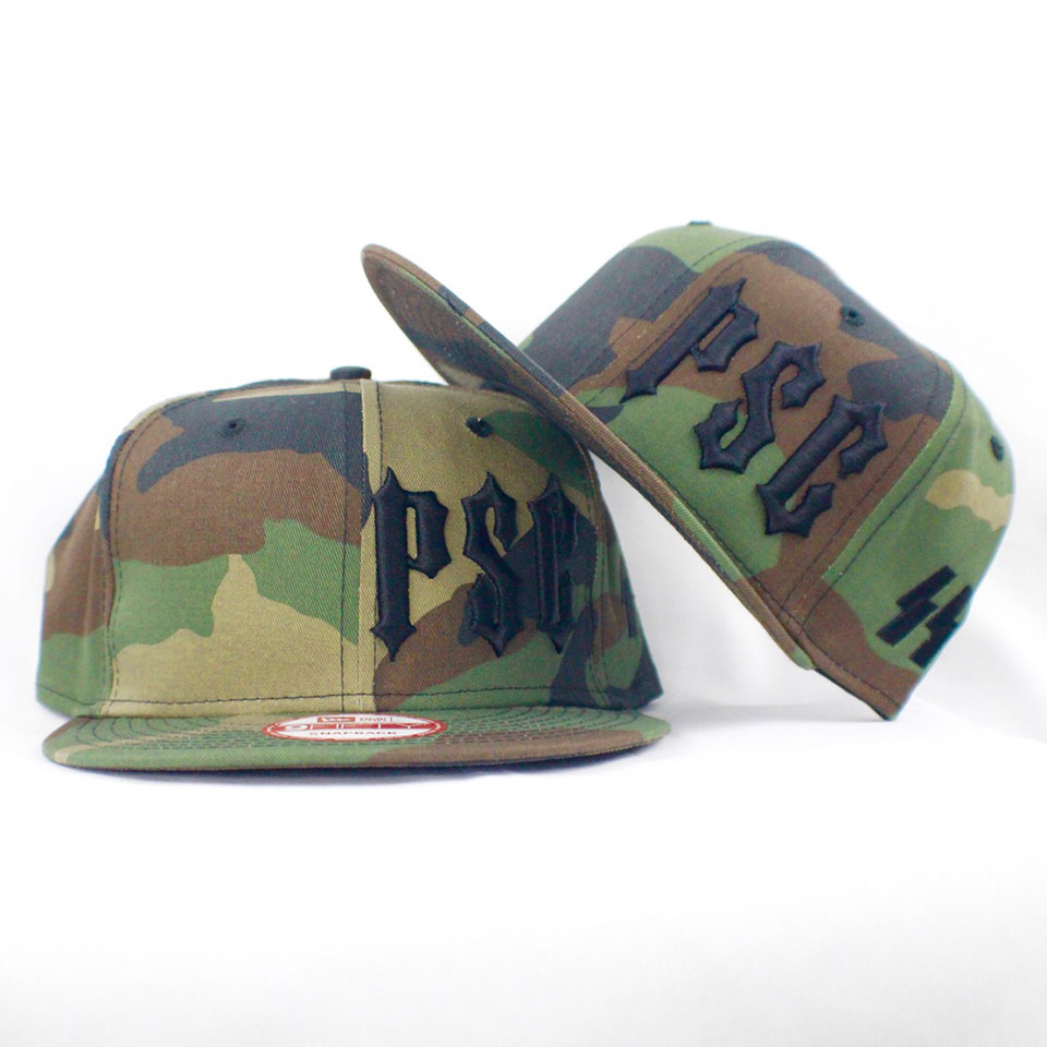 "PSC ""SS"" MEMBERS ONLY SNAP BACK CAMO / BLK"